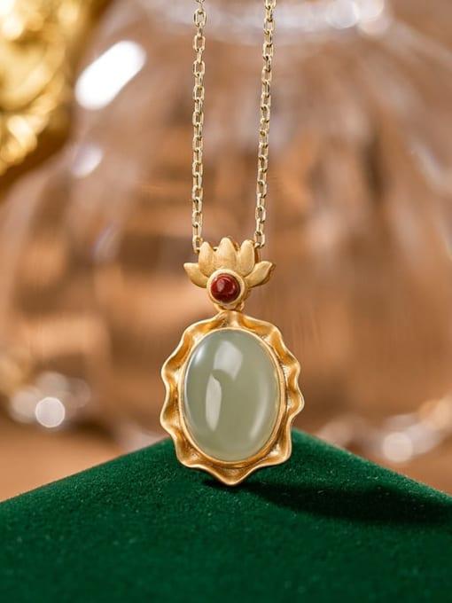 Sapphire (single pendant) 925 Sterling Silver Carnelian Vintage Geometric Pendant