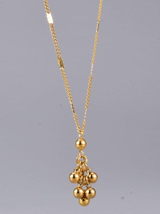 A TEEM Titanium Steel Ball Minimalist Necklace