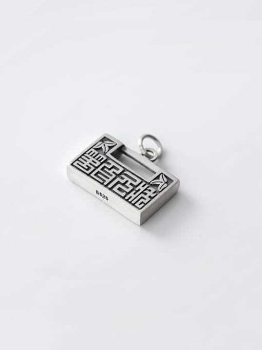 Rosh 925 Sterling Silver Vintage Geometric  Pendant