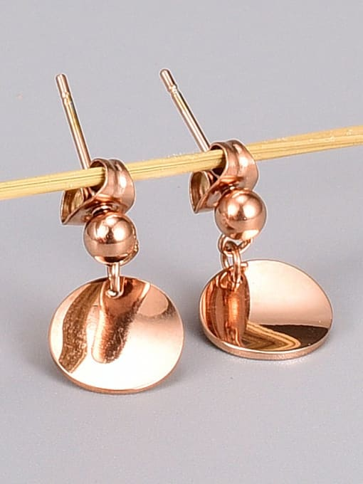 A TEEM Titanium Steel Round Minimalist Drop Earring 1