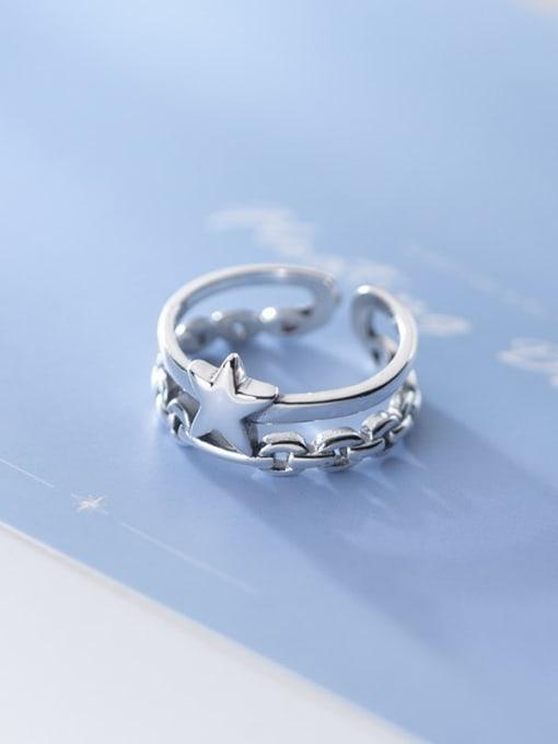 Rosh 925 Sterling Silver Star Vintage Stackable Ring 1