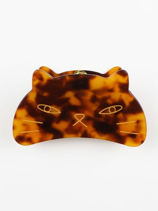 Hawksbill Cellulose Acetate Cute Cat Zinc Alloy Jaw Hair Claw