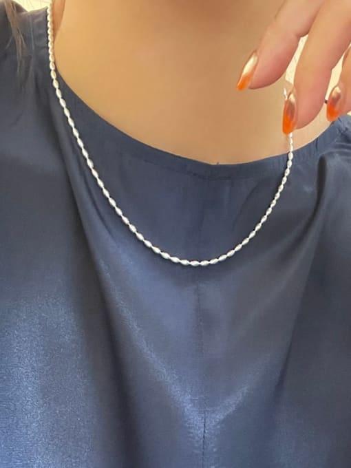Boomer Cat 925 Sterling Silver Bead Irregular Vintage Necklace