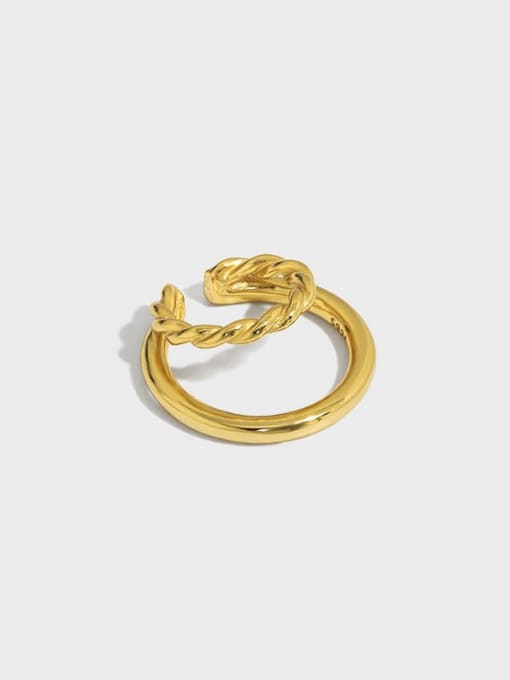 DAKA 925 Sterling Silver Geometric Minimalist C-shaped twist Clip Earring