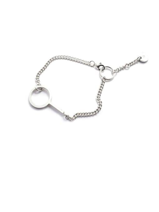 Boomer Cat 925 Sterling Silver Geometric Minimalist Link Bracelet