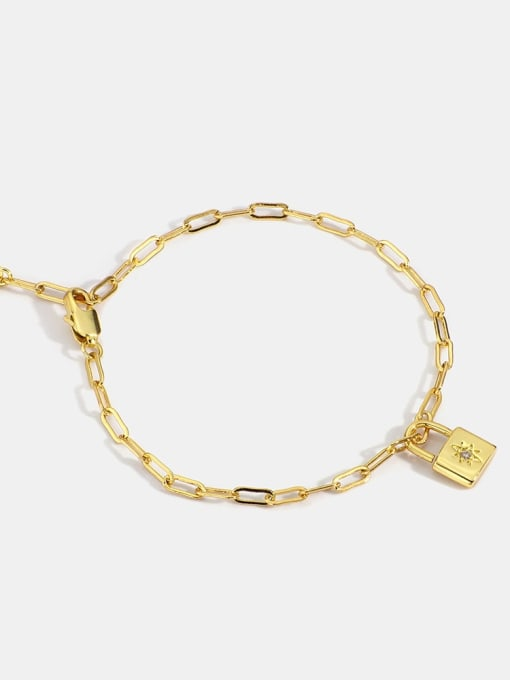 CHARME Brass Cubic Zirconia Locket Minimalist Bracelet
