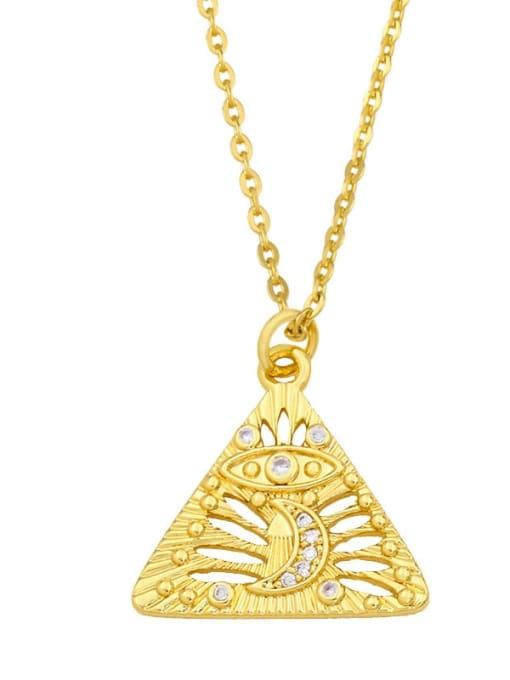 CC Brass Cubic Zirconia Geometric Minimalist Necklace