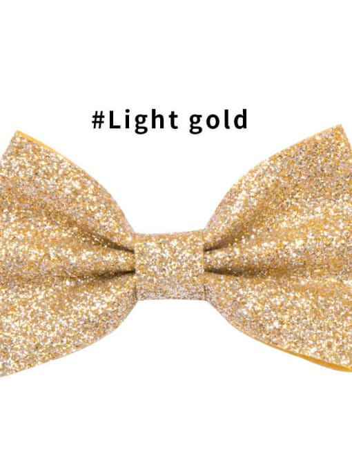 8 light gold Alloy Fabric Cute Bowknot  Multi Color Hair Barrette