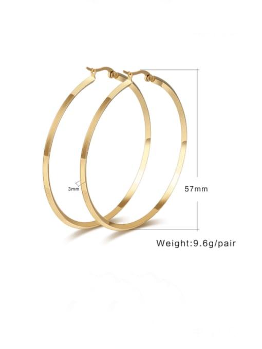 CONG Titanium Steel Geometric Minimalist Hoop Earring 1