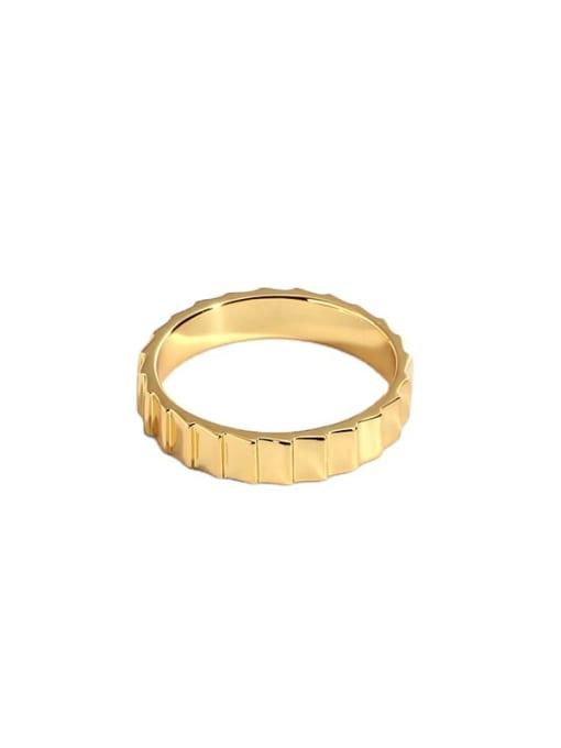 CHARME Brass Irregular Vintage Band Ring 4