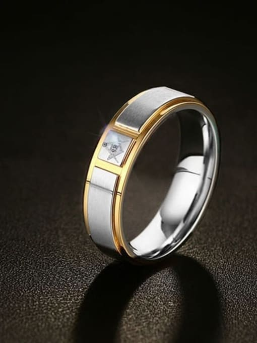 CONG Stainless steel Round Minimalist Band Ring 0