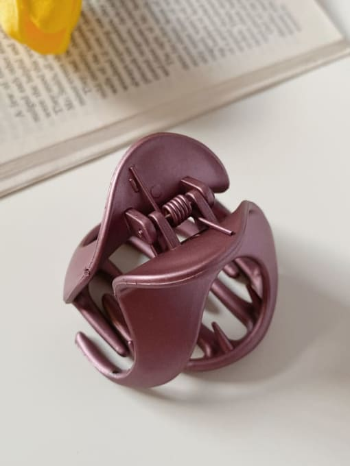 Purple 6cm Alloy Resin Minimalist Irregular Jaw Hair Claw