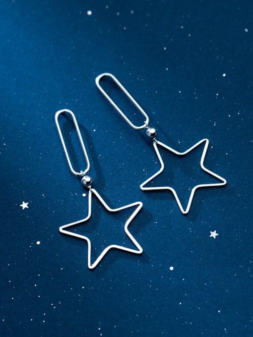 Rosh 925 Sterling Silver Star Minimalist Drop Earring