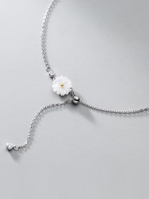 Rosh 925 Sterling Silver Resin Flower Minimalist  Anklet 3