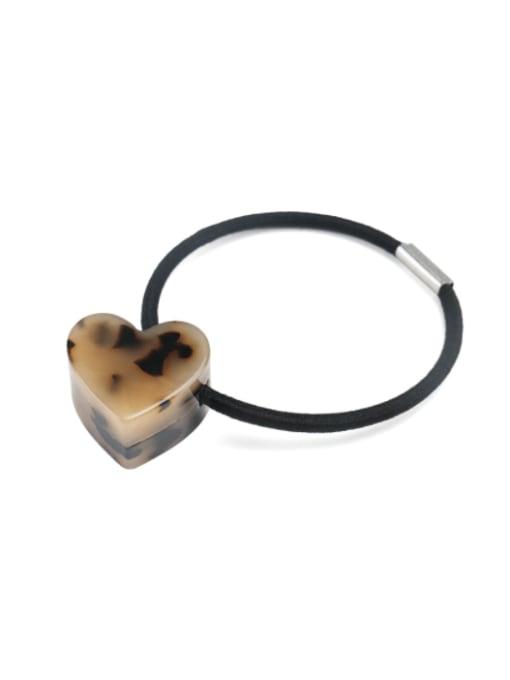 Shallow hawksbill Cellulose Acetate Minimalist Heart Hair Rope