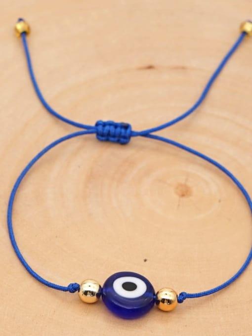 QT B200188C Stainless steel Bead Evil Eye Bohemia Adjustable Bracelet