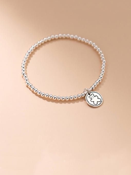 Rosh 925 Sterling Silver Bead Geometric Vintage Beaded Bracelet 0