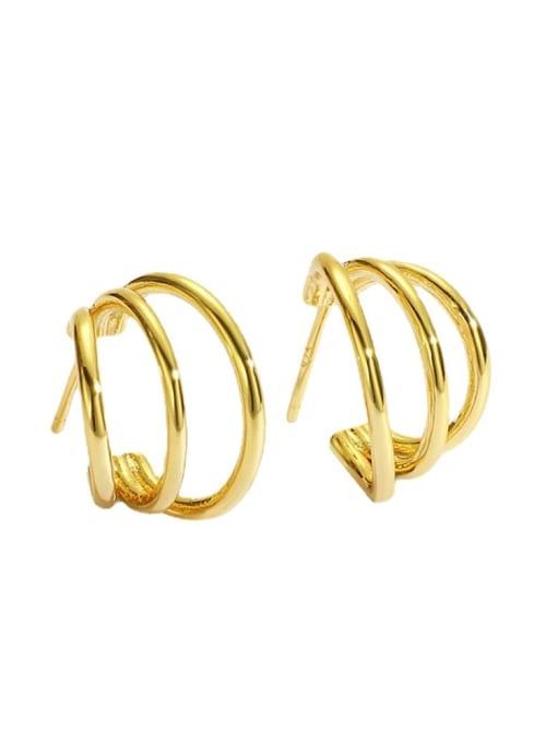 CHARME Brass Geometric Minimalist Stud Earring 3
