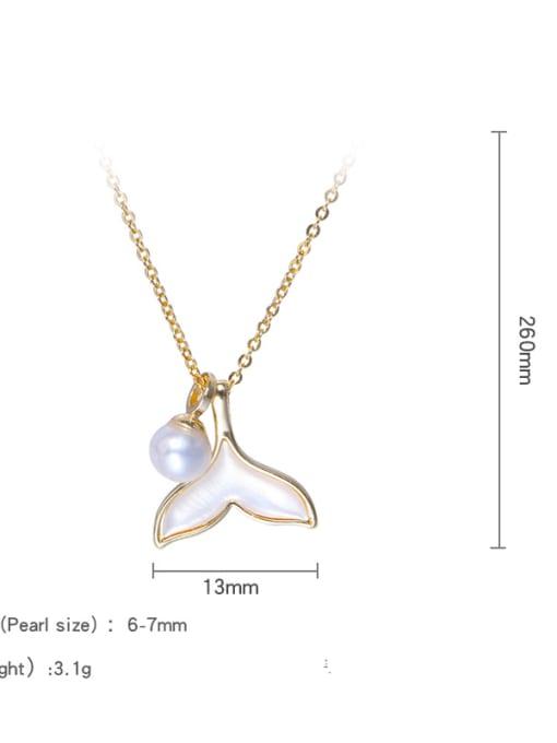 RAIN Brass Freshwater Pearl Cloud Minimalist Necklace 3