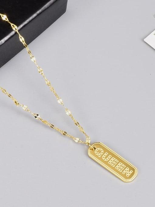 A TEEM Titanium Steel Geometric Vintage Necklace 2