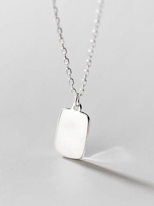 Rosh 925 Sterling Silver Geometric Minimalist Necklace 3