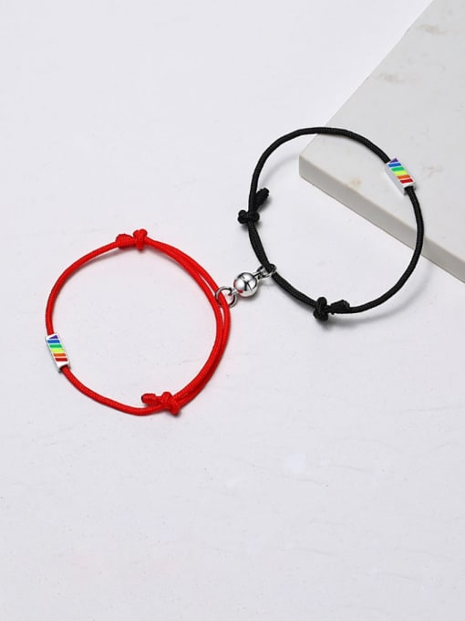 CONG Stainless steel Enamel Geometric Minimalist Woven Bracelet 1