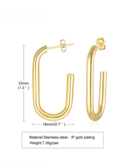 CONG Titanium Steel Geometric Minimalist Stud Earring 1