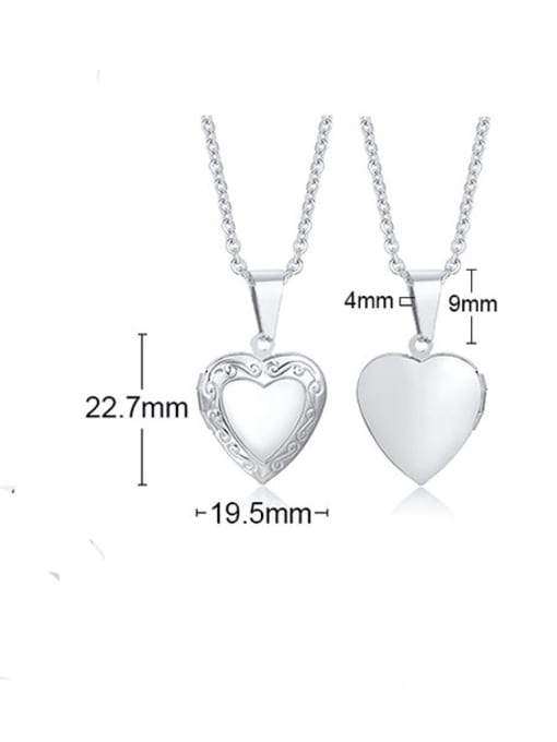Style 2 steel Stainless steel Heart Minimalist Necklace
