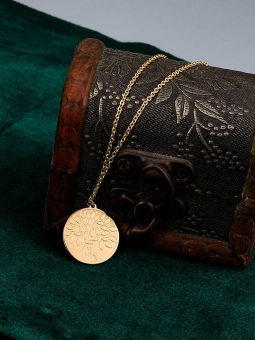 A TEEM Titanium Steel Coin Minimalist Necklace 2