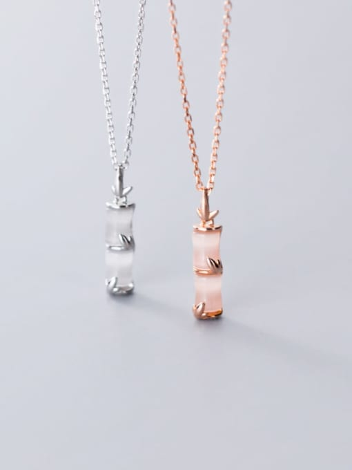 Rosh 925 Sterling Silver Shell Geometric Minimalist Necklace 1