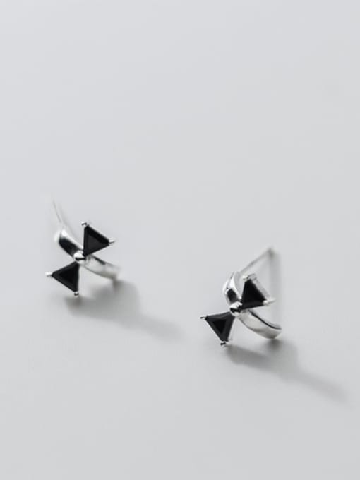Rosh 925 Sterling Silver Cubic Zirconia Butterfly Vintage Huggie Earring 4
