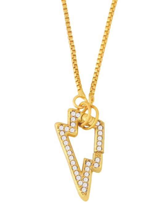 CC Brass Cubic Zirconia Irregular Vintage Necklace 1