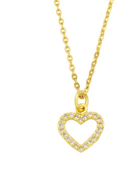 B Brass Cubic Zirconia Moon Minimalist Necklace