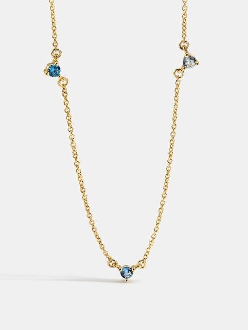 CHARME Brass Rhinestone Geometric Minimalist Necklace