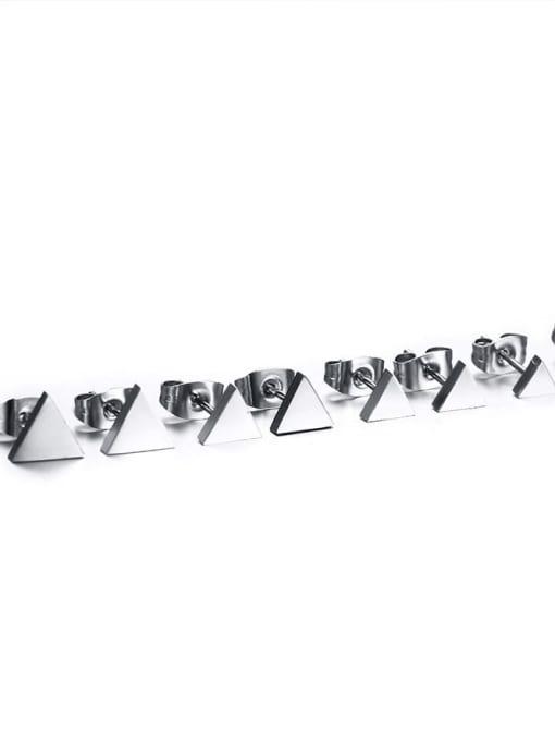 CONG Titanium Steel Triangle Minimalist Stud Earring 3