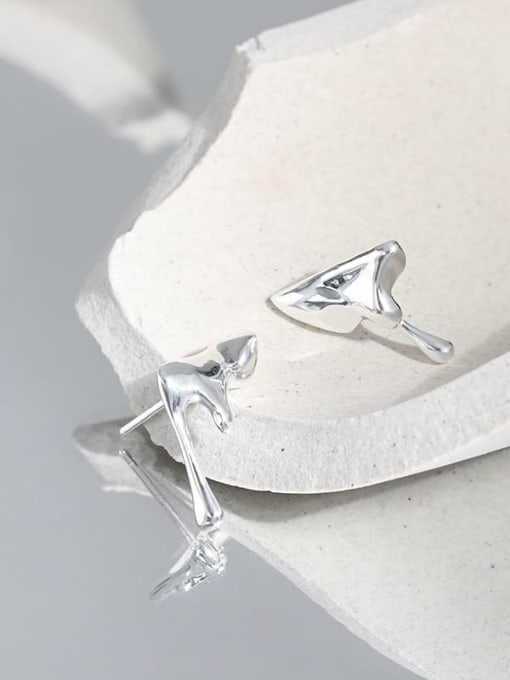 DAKA 925 Sterling Silver Irregular Minimalist Stud Earring 1
