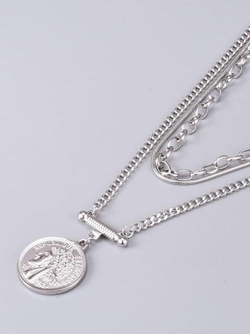 A TEEM Titanium Steel Geometric Vintage Multi Strand Necklace 1
