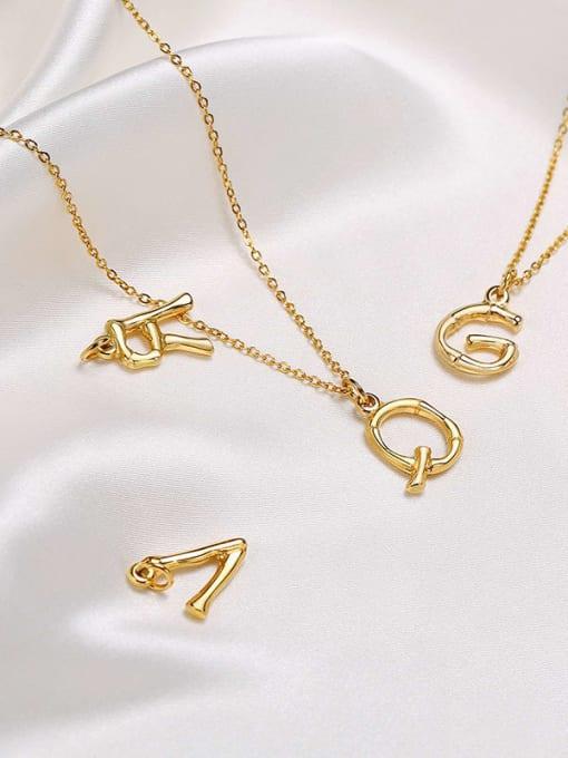 CONG Titanium Steel  26 Letter Minimalist  Pendant Necklace 2