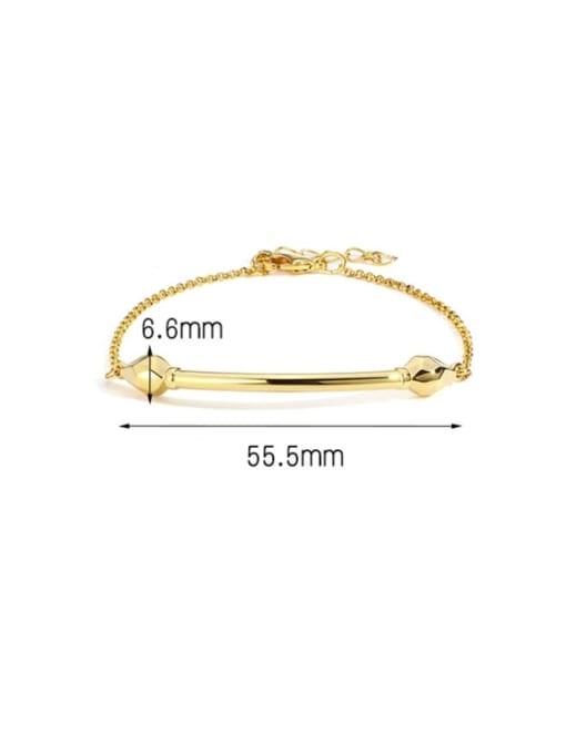 Golden Snake Bracelet Brass Rhinestone Geometric Minimalist Link Bracelet