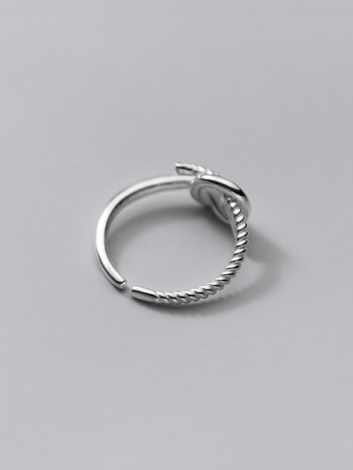 Rosh 925 Sterling Silver Rhinestone Irregular Vintage Band Ring 3
