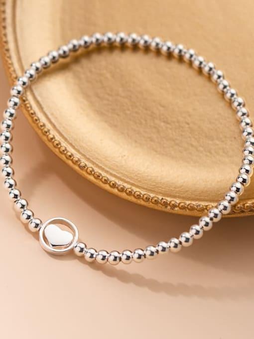 Rosh 925 Sterling Silver Bead Geometric Minimalist Beaded Bracelet 2