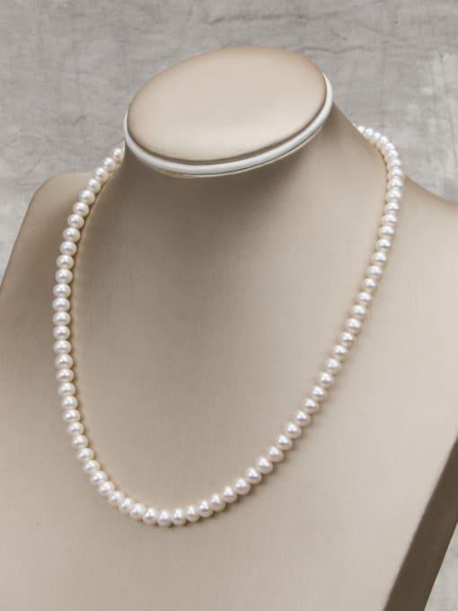 RAIN Brass Freshwater Pearl Round Minimalist Necklace 1
