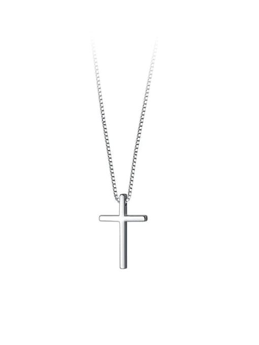Rosh 925 Sterling Silver Cross Minimalist Regligious Necklace 4