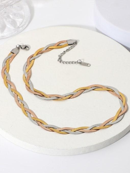 A TEEM Titanium Steel Irregular Vintage Necklace 2