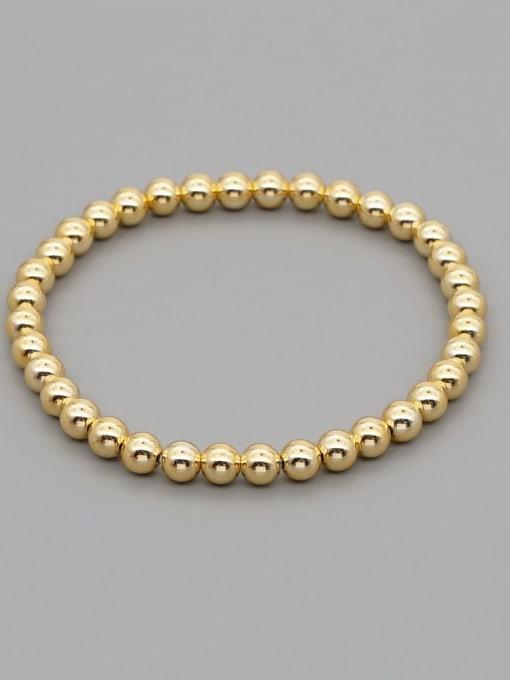5mmQT B200110D Stainless steel Bead Round Minimalist Beaded Bracelet
