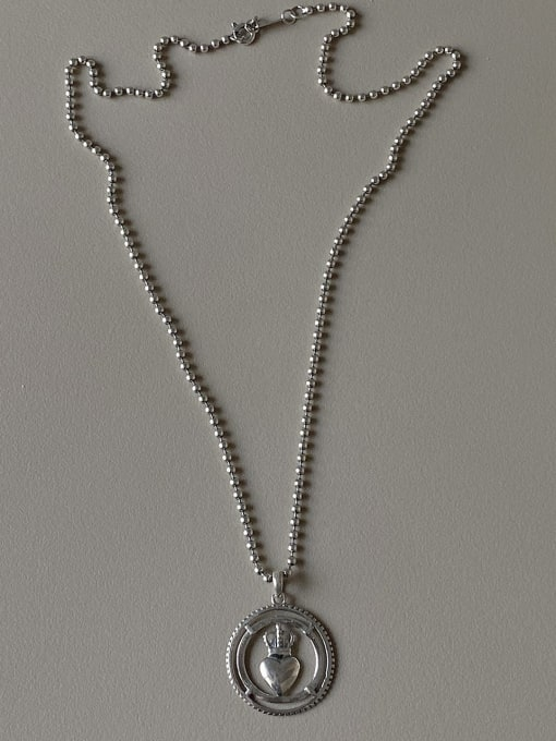 Boomer Cat 925 Sterling Silver Crown Minimalist Necklace 2