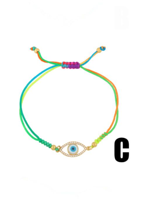 CC Brass Enamel Evil Eye Bohemia Adjustable Bracelet 3