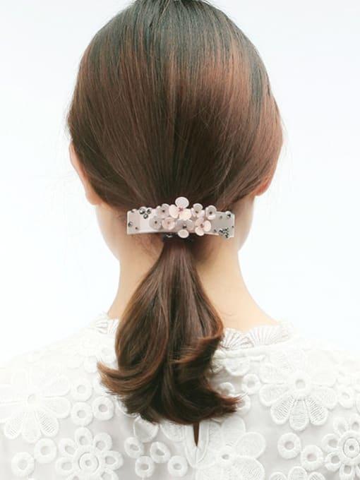 HUIYI Cellulose Acetate Minimalist Flower Zinc Alloy Spring clip Hair Barrette 2