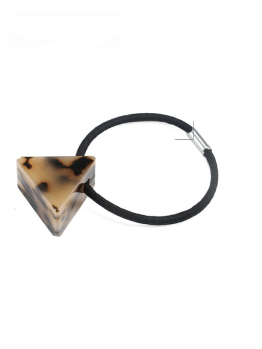 Shallow hawksbill Cellulose Acetate Minimalist Triangle Multi Color Hair Rope