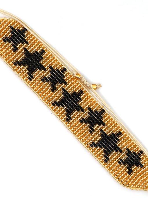 MG B190006C Multi Color MGB Bead Star Bohemia Adjustable Bracelet